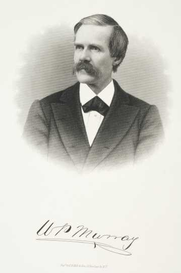"Engraving of William Porter ""Pitt"" Murray, ca. 1870."