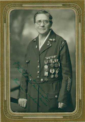 Black and white photograph of Theresa Ericksen, ca. 1930.