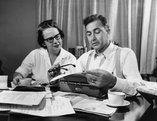 Black and white photograph of Eugene and Abigail McCarthy, 1958.