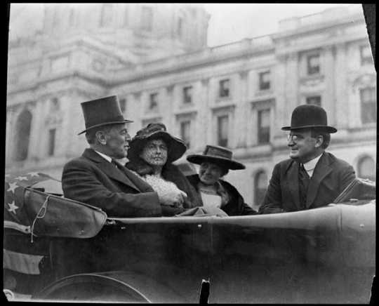 Governor Joseph A. A. Burnquist and Mary Louise Burnquist, with President Woodrow Wilson and Edith Wilson, 1919.