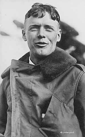 Black and white photograph of Colonel Charles Augustus Lindbergh, c.1928.