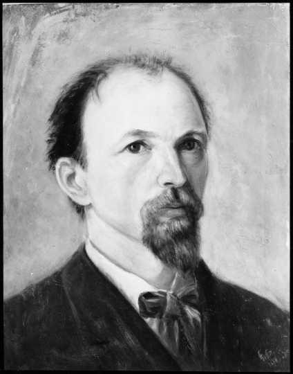 Self-portrait of Anton Gág painted by his daughter Wanda