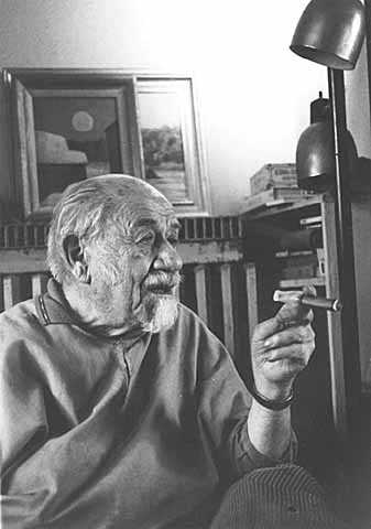 Black and white photograph of Clement Haupers, 1979. Photographed by Elizabeth M. Hall.