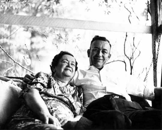 Eva McDonald Valesh Cross and her son Frank Morgan Valesh
