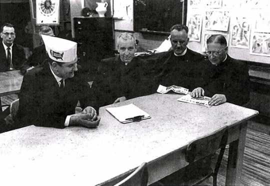 NFO representatives at a press conference held on October 16, 1963.