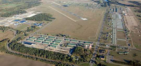 Color image of the Camp Ripley cantonment area, 2015.