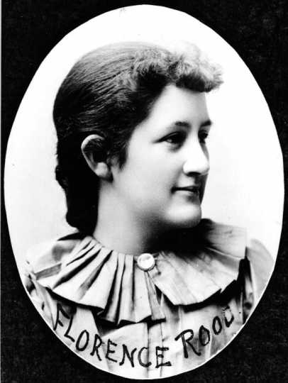 Photograph of Florence Rood at her high school graduation, 1892