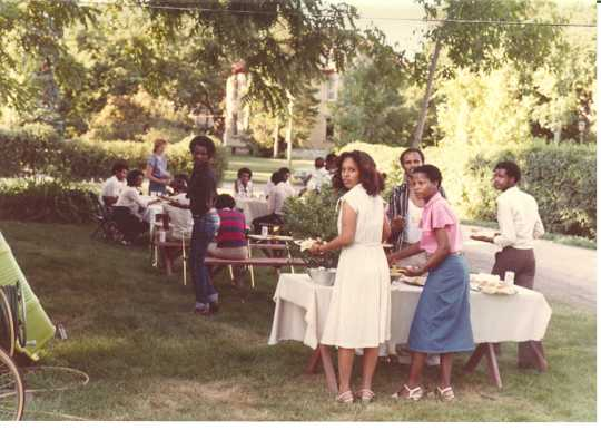 Oromo immigrants and refugees at a social gathering