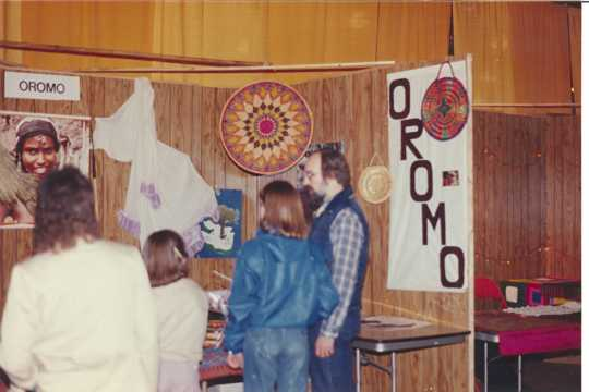 Oromo booth at the Festival of Nations