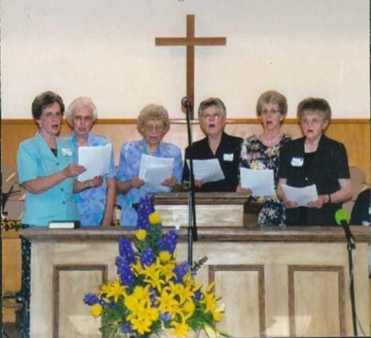 Color image of the Carson Mennonite Brethren Church centennial celebration, 1975.