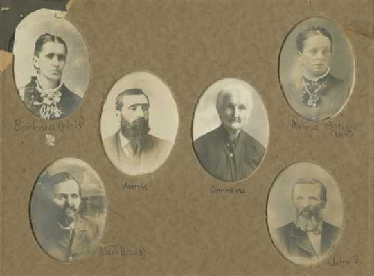 Portraits of members of the Simonet and Wolf families