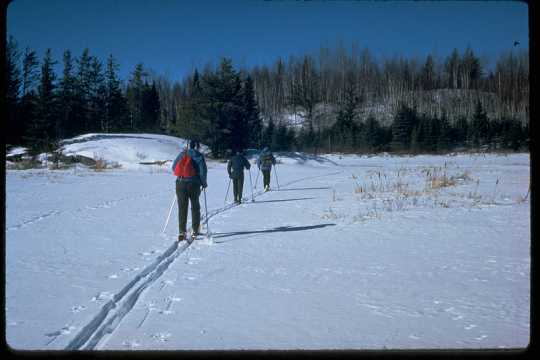 Cross-country skiing inside Voyageurs National Park