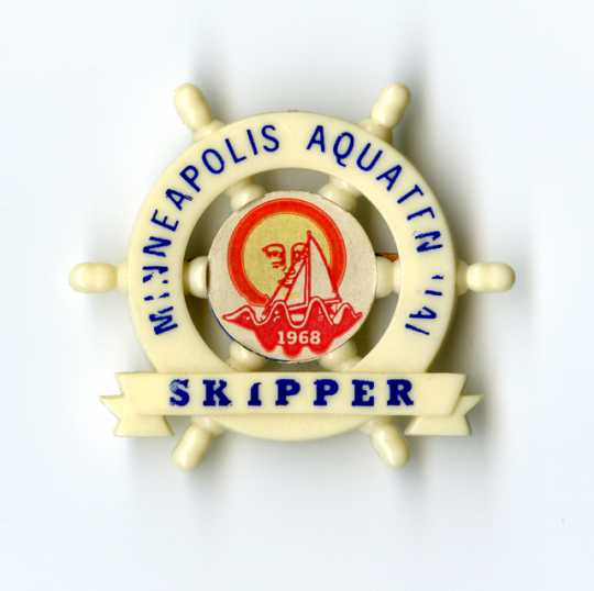 1968 Minneapolis Aquatennial Skipper pin