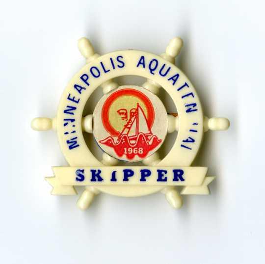 1968 Minneapolis Aquatennial Skipper pin