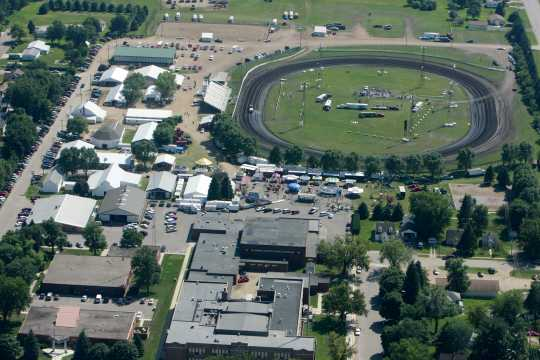 Aerial view of the Murray County Fairgrounds in Slayton, 2010.