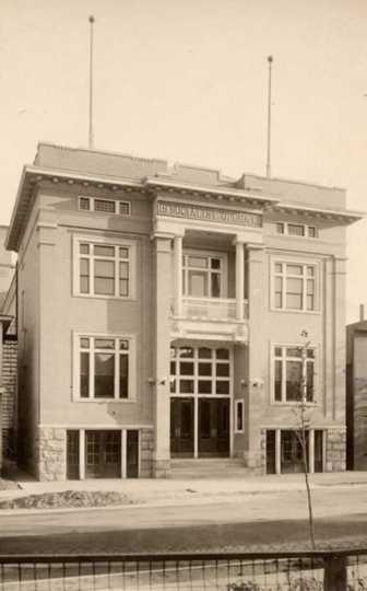 Exterior view of the Socialist Opera building in Virginia, Minnesota.