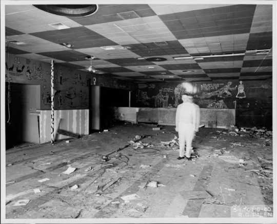 Gutted interior of the Great Lakes Bar