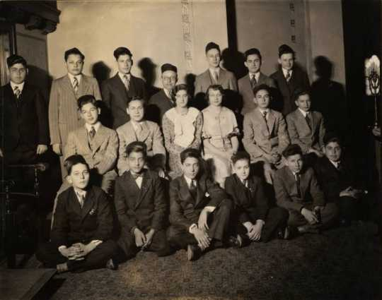 Black and white photograph of students at the St. Paul Talmud Torah, 1930.