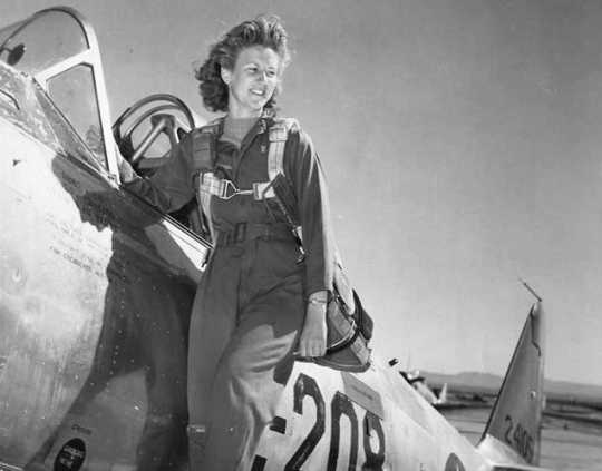 Photograph of Women Airforce Service Pilot (WASP) Betty Strohfus, ca. 1940s.