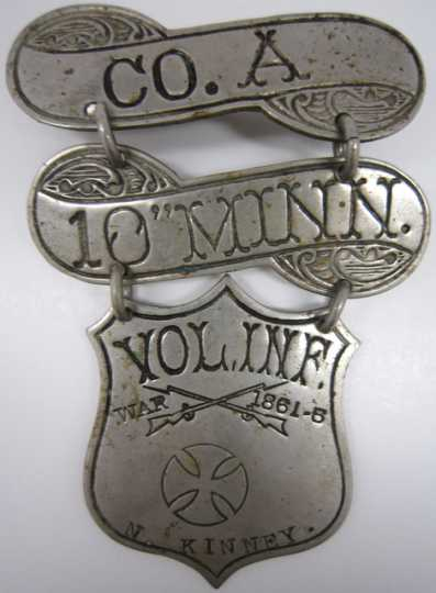 Civil War veterans' organization badge
