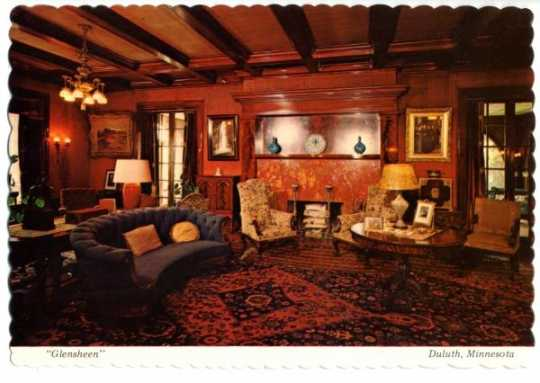 Glensheen living room, undated.