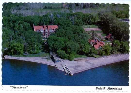 Glensheen from the air, undated.