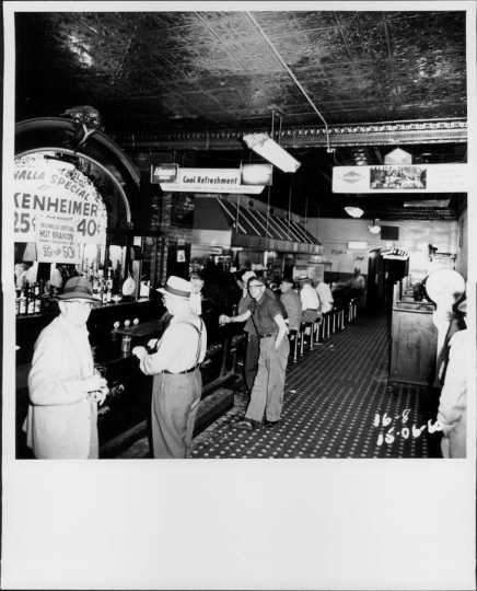 Bar scene at the Valhalla Café