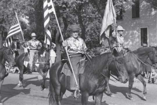 Horse Club riders in Flax Day parade