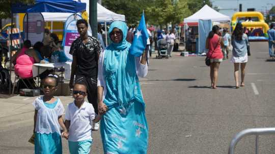 Photograph of adults and children celebrating Somali Independence Day