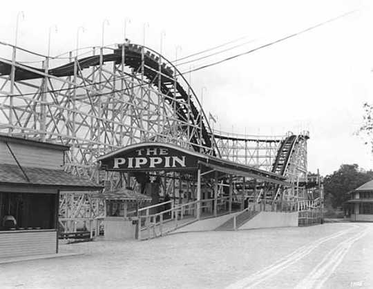 The Pippin roller coaster at Wildwood, 1927.